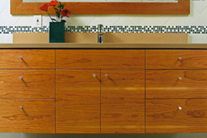 Floating vanity for Fine Homebuilding