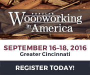 Sign up for Popular Woodworking in America 2016